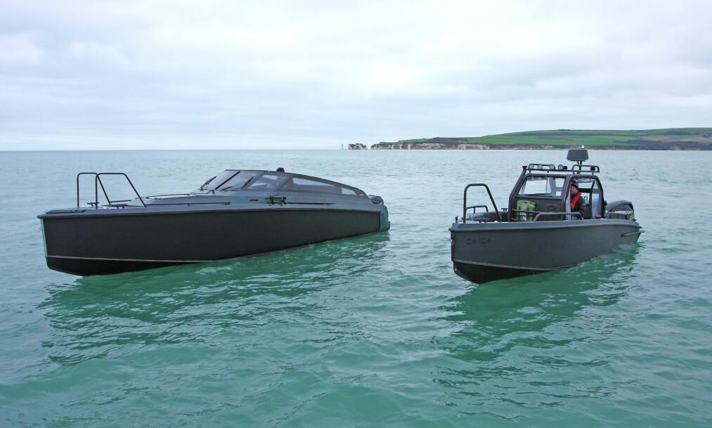 <strong>DRISTIG:</strong> Mørkt, mystisk og militært er stikkordene for XO's nye design. Foto: Atle Knutsen og Paul Plumb / Wessex Marine