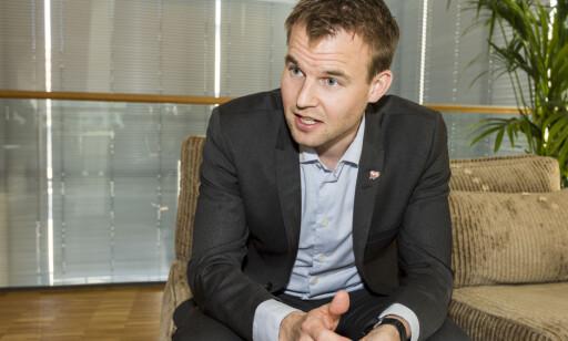 FÅR FLERTALL: Kjell Ingolf Ropstad og KrF har fått Stortinget med seg på sitt forslag om endring av sexkjøpsloven. Foto: Ned Alley / NTB scanpix