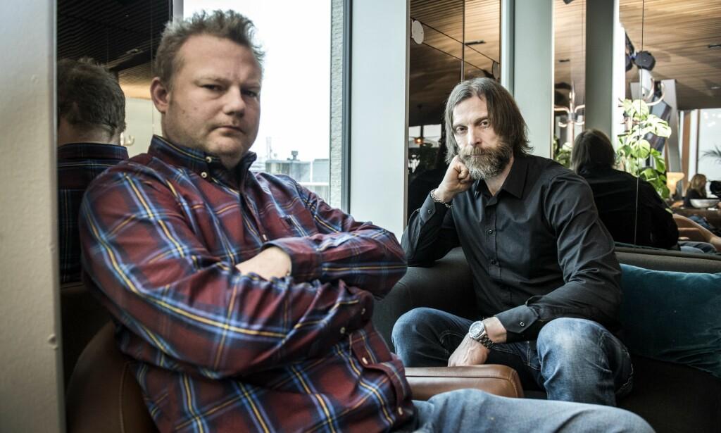 NØLENDE: Morgan Karlsson (t.v.) vurderte å hoppe av innspillingen til den niende sesongen av «Ullared». Her sammen med Ola-Conny Wallgren. Foto: NTB Scanpix