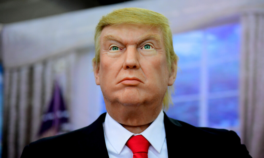 I KINA: En voksfigur av USAs president Donald Trump i Shenyang i den kinesiske Liaoning-provinsen. Foto: Reuters/ NTB scanpix