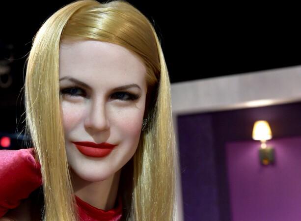 KUNSTIG: Denne voksutgaven av Nicole Kidman kommer riktig nok ikke fra Madame Tussauds. Den er utstilt på Dreamland Wax Museum i Boston. Foto: Paul Marotta/REX/Shutterstock/ NTB scanpix