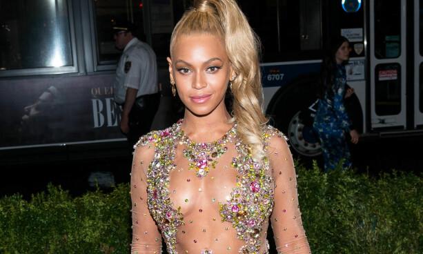 I VIRKELIGHETEN: Beyoncé på MET-gallaen i New York i 2015. Foto: NTB scanpix