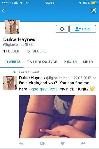 FALSKE PROFILER I FLERE MEDIER: Her skjermdump fra Twitter.