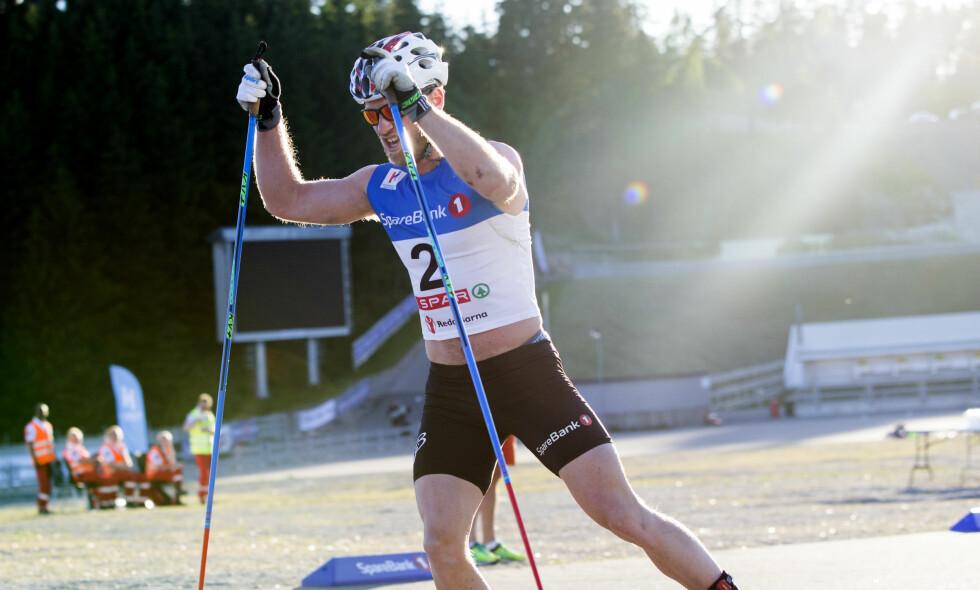 OSLO  20160604. Martin Johnsrud Sundby under Oslo Skishow 2016 i Holmenkollen Foto: Berit Roald / NTB scanpix