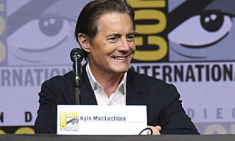 COMIC CON: Kyle avbildet under tegneseriemessen Comic Con forrige uke der han promoterte serien «Twin Peaks». Foto: NTB scanpix