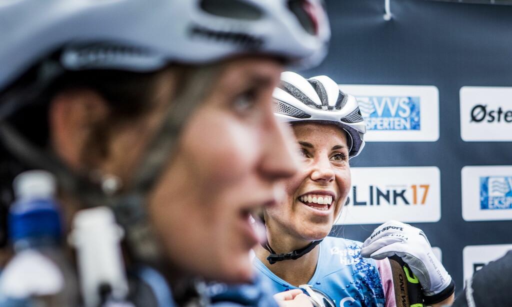 RART: Charlotte sier at det blir rart å gå på ski uten Marit Bjørgen som konkurrent i framtida. Foto: Christian Roth Christensen / Dagbladet
