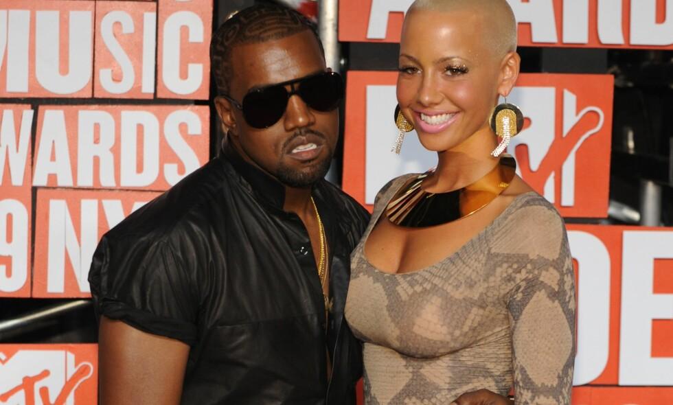 TØFT BRUDD: Amber Rose var sammen med rapstjerna Kanye West fra 2008 til 2010. Nå snakker hun ut om bruddet. Her er det daværende paret sammen på MTV Video Music Awards i 2009. Foto: AP/ NTB scanpix