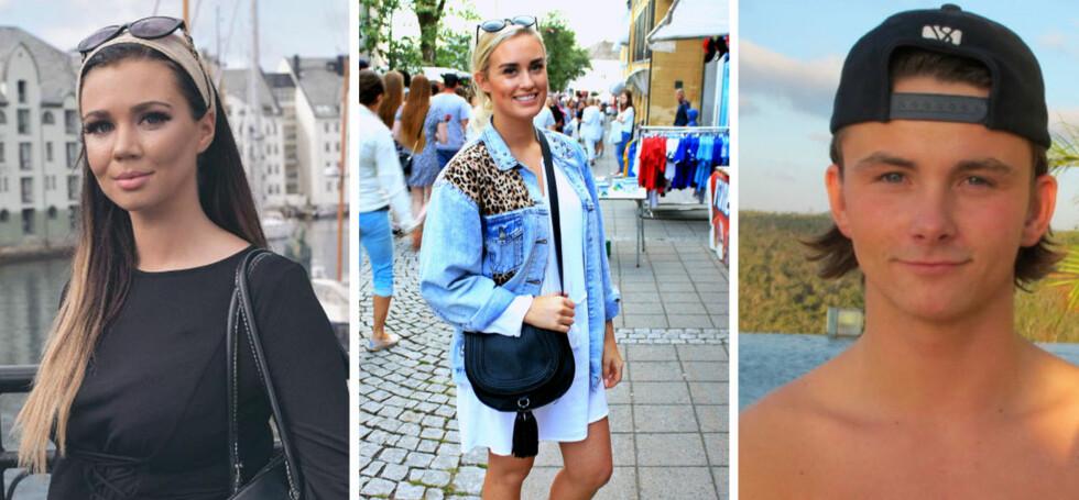 SOMMERFERIE: Sophie Vågsæter, Andrea Sveinsdottir og Petter Sjurseth er noen av «Paradise Hotel»-deltakerne som nyter sommeren - både i Norge og i utlandet. Foto: Privat / Kine Falch
