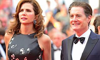GIFT I 15 ÅR: Kyle MacLachlan og Desirée Gruber sammen i Cannes i mai. Foto: Jan Sauerwein/ REX /Shutterstock/ NTB scanpix
