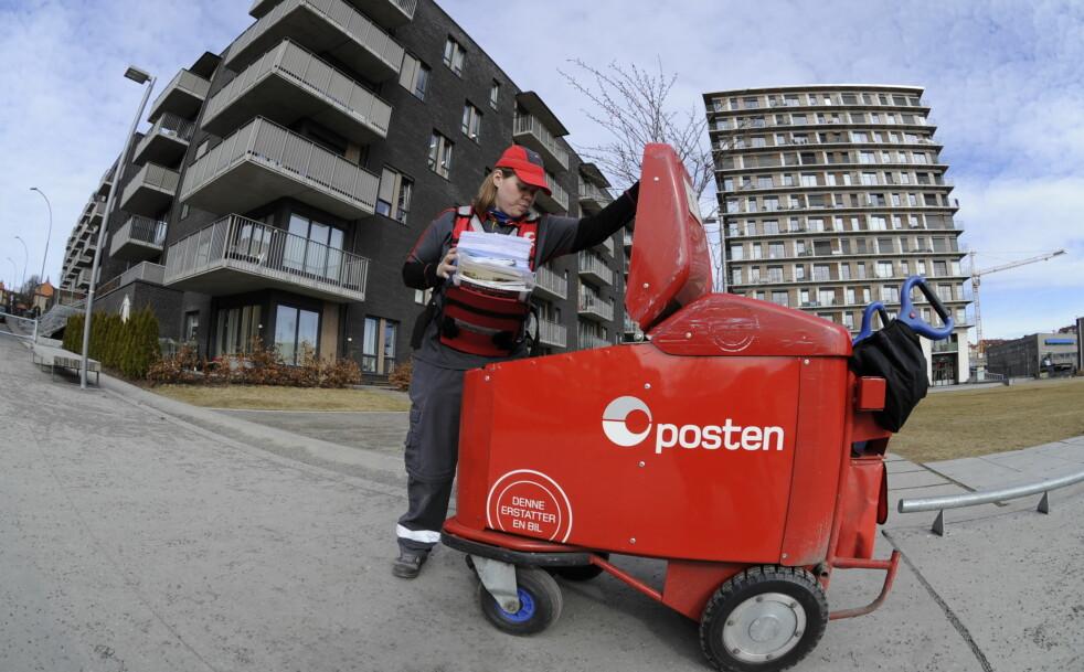 <strong>MÅ RESPEKTERE:</strong> Posten er blant dem som sender ut mye reklame til norske postkasser. Men har du reservert deg mot adressert reklame, og har et klistremerke hvor du takker nei til uadressert reklame, kan ikke reklamen legges der. Foto: Posten