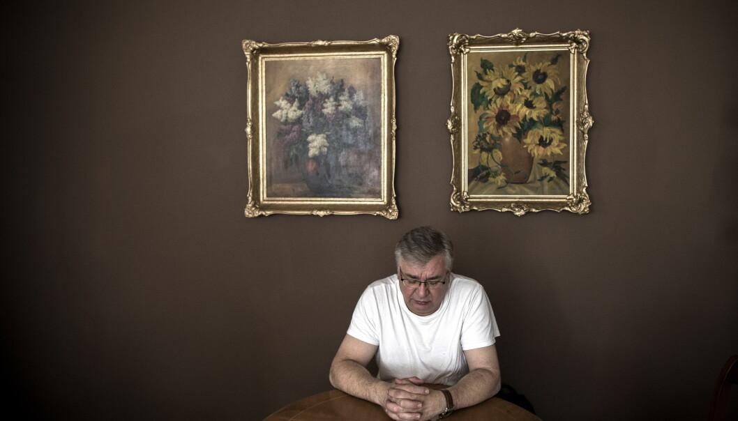 <strong>BESKYLDT FOR TYVERIET:</strong> - Penger som ble stjålet? Nei, det har jeg aldri gjort, sier Roman Kusnierz, som ble beskyldt for å ha stjålet pengene. Foto: Tomm W. Christiansen/Dagbladet