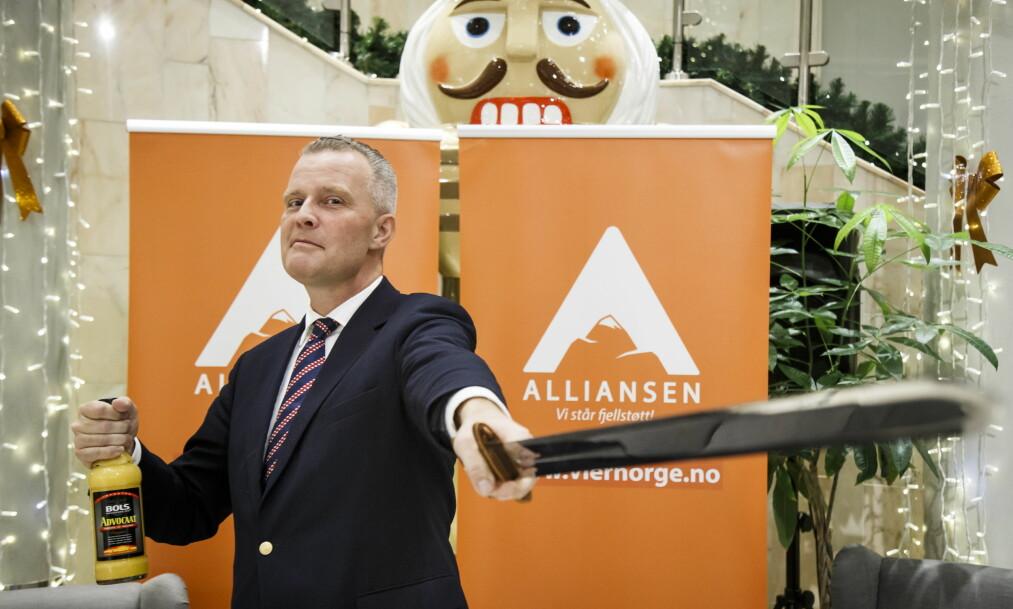 INVITERT: Arendalsuka aksepterer ikke at Hans Jørgen Lysglimt Johansen, leder for Alliansen, etter planen delta i en panelsamtale i Arendal i morgen. De vurderer å stenge dørene ved makt. Foto: Heiko Junge / NTB scanpix
