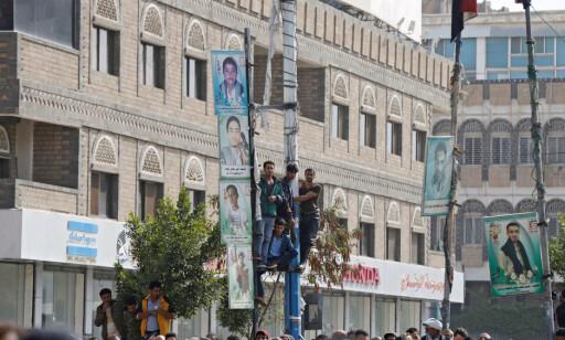 10 000: Ifølge en nyhetsfotograf på stedet var det så mange som 10 000 mennesker til stede under henrettelsen. Foto: Khaled Abdullah / Reuters / NTB Scanpix