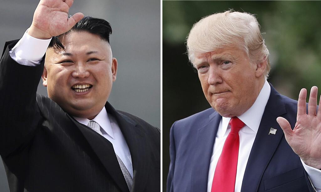 ISKALDT: Forholdet mellom Nord-Korea og USA er iskaldt. Spesielt etter Kim Jong-uns testing av det som skal være interkontinentale missiler: Foto: (AP Photo/Wong Maye-E, Pablo Martinez Monsivais/NTB Scanpix