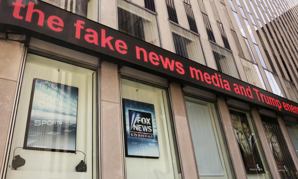 FAKE NEWS: Rod Wheeler, som i 11 år jobbet for Fox News, anklager nå TV-kanalen for å ha fabrikkert sitater. Alt for å fremme president Trumps agenda. Foto: AP Photo / Richard Drew / NTB scanpix
