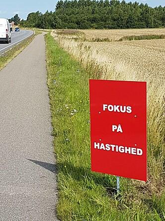 <strong>FART:</strong> Kampanjen vil rette fokus på særlig farlige strekninger. Foto: Sydsjælland og Lolland-Falsters Politi