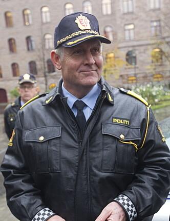 <strong>IKKE I NORGE:</strong> Sjef i utrykningspolitiet, Rune Karlsen, sier at den danske kampanjen åpenbart er blitt til av gode hensikter, men at det ikke er en en type kampanje som er ønskelig i Norge. Foto: Morten Holm / Scanpix