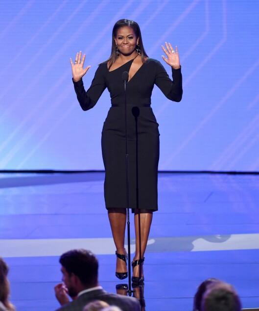 ESPY: Michelle Obama stråler på scenen i denne kjolen fra Cushnie Et Ochs! Foto: AFP