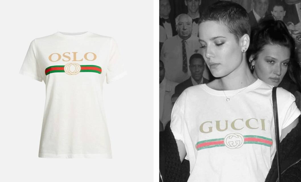 SE SÅ LIKE: Bik Boks t-skjorte til venstre ligner svært på den fra Gucci (t.h.) Foto: Produsenten, Scanpix