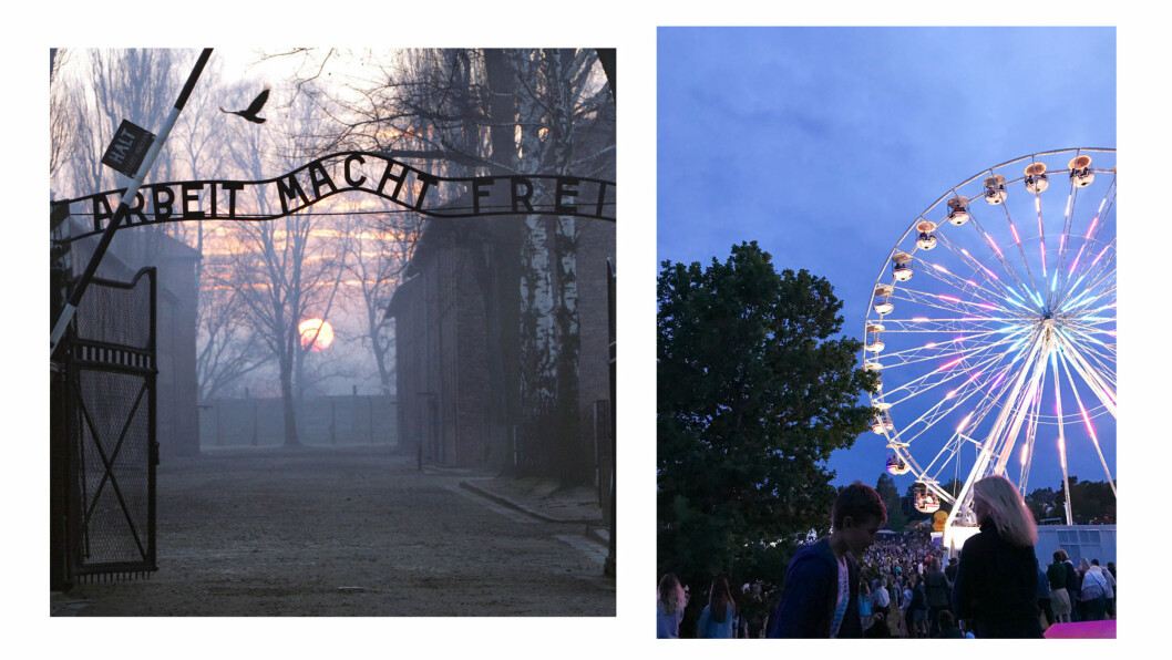 <strong>AUSCHWITZ:</strong> KK.no-journalist Malini Gaare Bjørnstad var på besøk i Auschwitz og på Stavernfestivalen i Larvik i løpet av én uke. Det satte ting i perspektiv. Foto: NTB Scanpix og Lasse Engeland