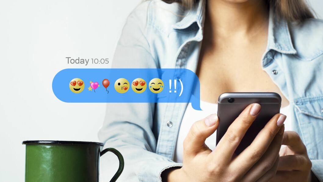 EMOJI: Er det sånn at vi er blitt avhengig av å bruke smilefjes?  Foto: NTB scanpix