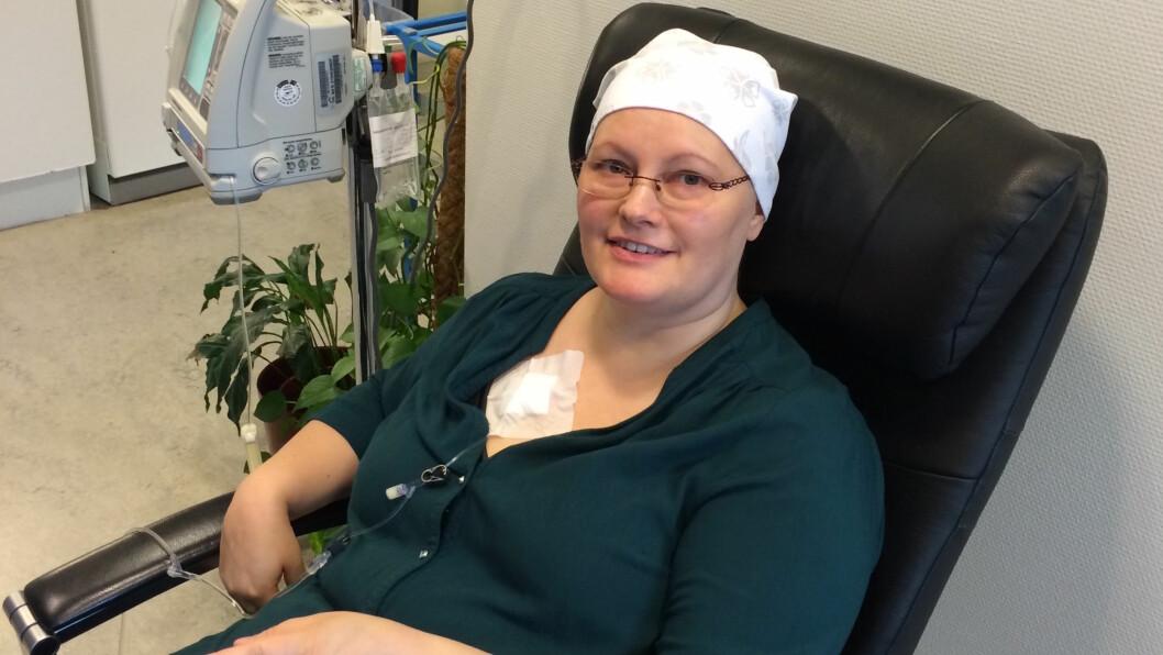 KREFT: Eva (45) har hatt kreft to ganger: - Jeg er glad jeg ikke visste hvordan tiden etter skulle bli. FOTO: Privat