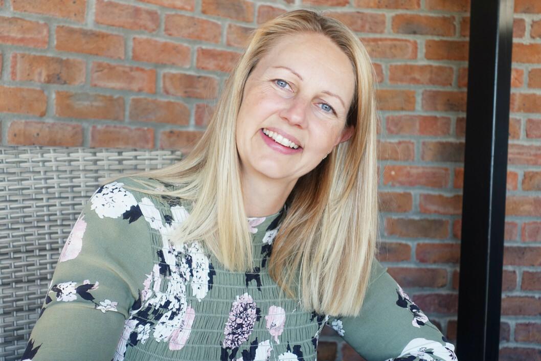 <strong>FIKK KARRIEREVEILEDNING:</strong> Ann Kathrin Wårheim Seim syntes det var veldig flaut å innrømme at hun hadde en 1'er på vitnesbyrdet fra videregående, men karriereveileder Mette Manus ba henne om å ikke fokusere på det negative. Foto: Merete Sillesen