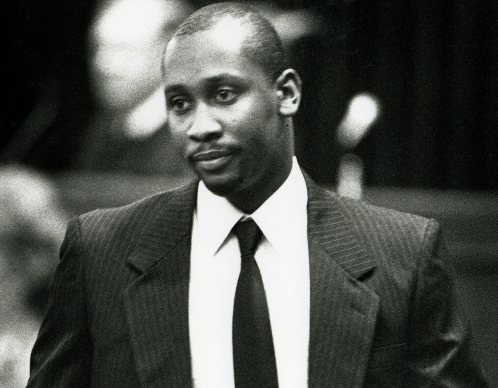 FILE - This Aug. 22, 1991 file photo shows Troy Anthony Davis entering Chatham County Superior Court in Savannah, Ga., during his trail in the shooting death of off-duty police officer Mark MacPhail. Georgia's pardons board on Tuesday, Sept. 20, 2011, rejected clemency for Davis despite high-profile support for his claim that he was wrongly convicted of killing MacPhail in 1989. Davis is set to die on Wednesday, Sept. 21. It is the fourth time in four years his execution has been scheduled by Georgia officials.  (AP Photo/The Savannah Morning News, File)