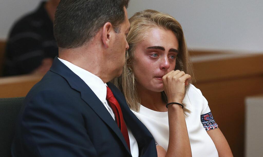 ANKET: Michelle Carters forsvarer Joseph Cataldo (t.v.) opplyste at han anker straffen på 15 måneders fengsel for 20-åringen. Foto: Matt West/The Boston Herald via AP/NTB Scanpix