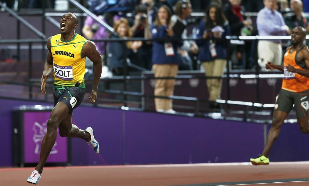 <strong>LENGE TIL NESTE:</strong> Enn så lenge er det bare Usain Bolt som har vært i nærheten av sine egne verdensrekorder. Nå legger han opp. Foto: Bjørn Langsem