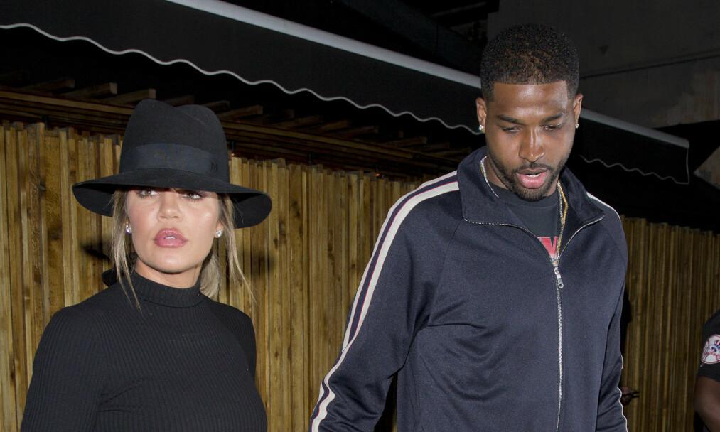 VENTER KANSKJE BARN: Khloé Kardashian og Tristan Thompson blir muligens snart foreldre, skal vi tro kilder nær paret. Foto: NTB Scanpix