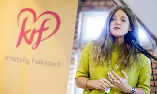 VIl LÆRE: Generalsekretær i KrF Hilde Frafjord Johnson sier partiet vil lære av saken. Foto: Håkon Mosvold Larsen / NTB scanpix