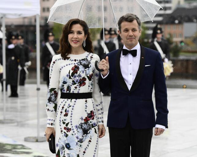 I OSLO: Kronprinsesse Mary og kronprins Frederik i Oslo under kong Harald og dronning Sonjas 80 årsfeiring tidligere i år. Foto: NTB Scanpix