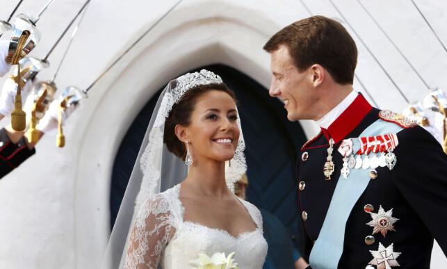 GIFTET SEG: Prins Joachim giftet seg med prinsesse Marie i 2008. Foto: AP