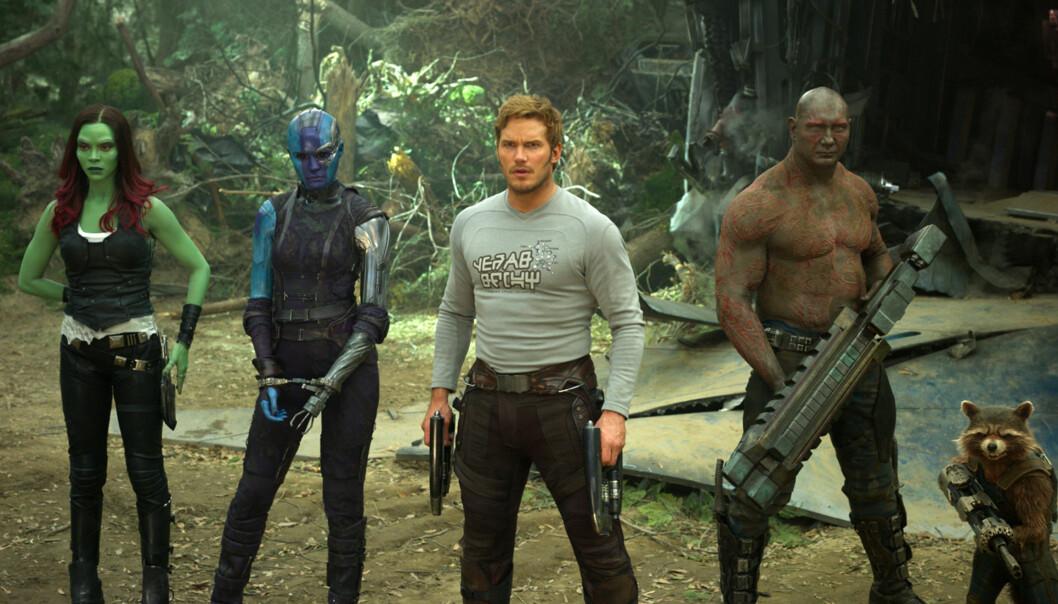 """KJENT SKUESPILLER: Chris Pratt er kjent fra flere store filmer de senere årene. Her fra filmen &lt;Guardians of the Galaxy&gt; <guardians of="""""""" the="""""""" galaxy="""""""" vol.="""""""" 2="""""""">i 2017. FOTO: Scanpix   </guardians>"""