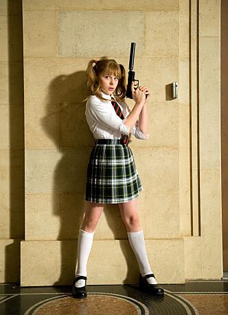 """UNG SKUESPILLER: Moretz i filmen &lt;Kick- Ass&gt; <kick ass="""""""">i 2010. FOTO: Scanpix   </kick>"""