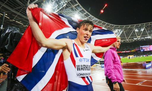 BEST I VERDEN: Det tok ikke lang tid med spesialstrening før Karsten Warholm tok et eventyrli VM-gull på 400 meter hekk i London. Foto: Heiko Junge / NTB scanpix