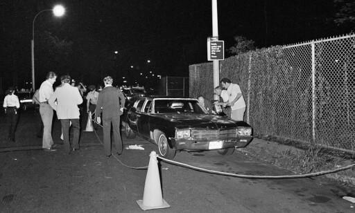 ÅSTED: Bildet er fra åstedet der Stacy Moskowitz ble skutt og drept, og Robert Violante ble skutt i øyet og skadet for livet 31. juli 1977. Foto: NTB scanpix / AP photo / file