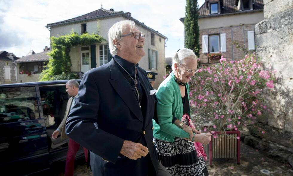 DRO PÅ KONSERT: Prins Henrik og dronning Margrethe dro sammen på konsert i Frankrike, etter den mye omtalte uttalelsen fra prinsen. Foto: Dan Mariegaard