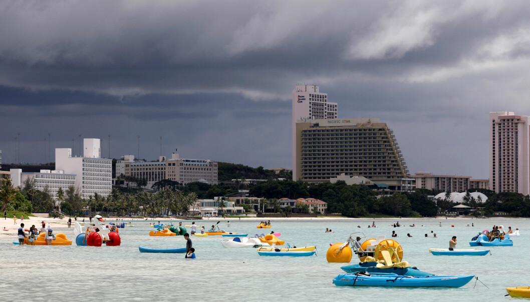 GUAM: Den amerikanske stillehavsøya Guam er igjen i sentrum for et storpolitisk spill. Igjen har øya, som bare ligger 4000 kilometer unna Nord-Koreas hovedstad Pyongyang, gjenstand for en nordkoreansk trussel. Foto: Reuters / NTB Scanpix