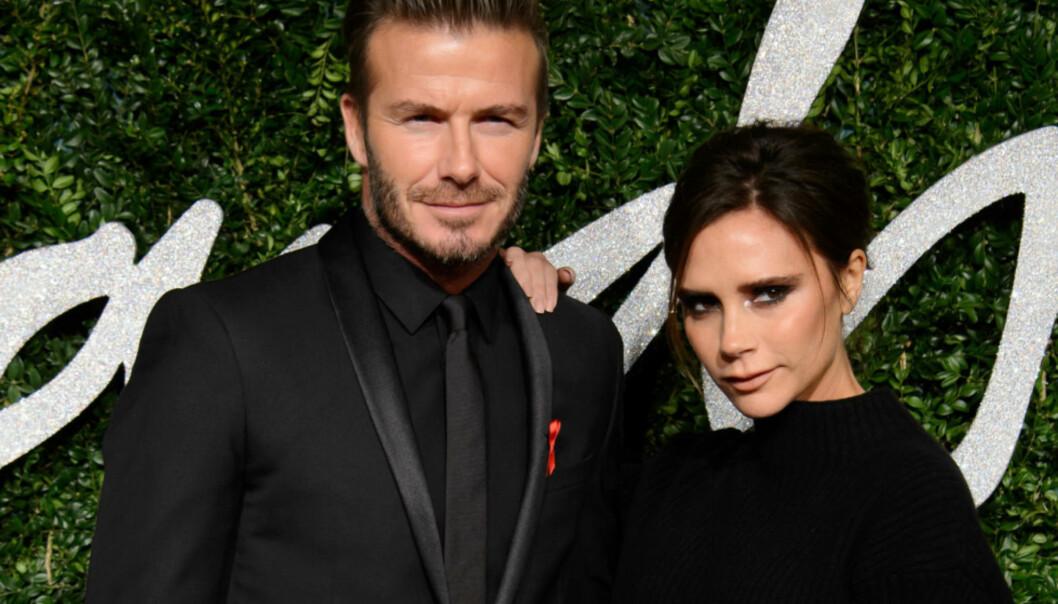 <strong>SOLID FORHOLD:</strong> David og Victoria Beckham har vært kjærester siden 1997. Foto: NTB Scanpix.