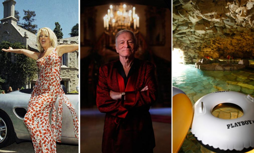EKSTRAVAGANT, MEN MYSTISK: Playboy Mansion er hjemmet til Playboy-mogulen Hugh Hefner (91) og ligger i Los Angeles i California. Boligen, som også er kjent som Playboy Mansion West, er kjent verden over, mye takket være de beryktede festene som har forekommet der i løpet av de siste tiårene. Foto: NTB Scanpix