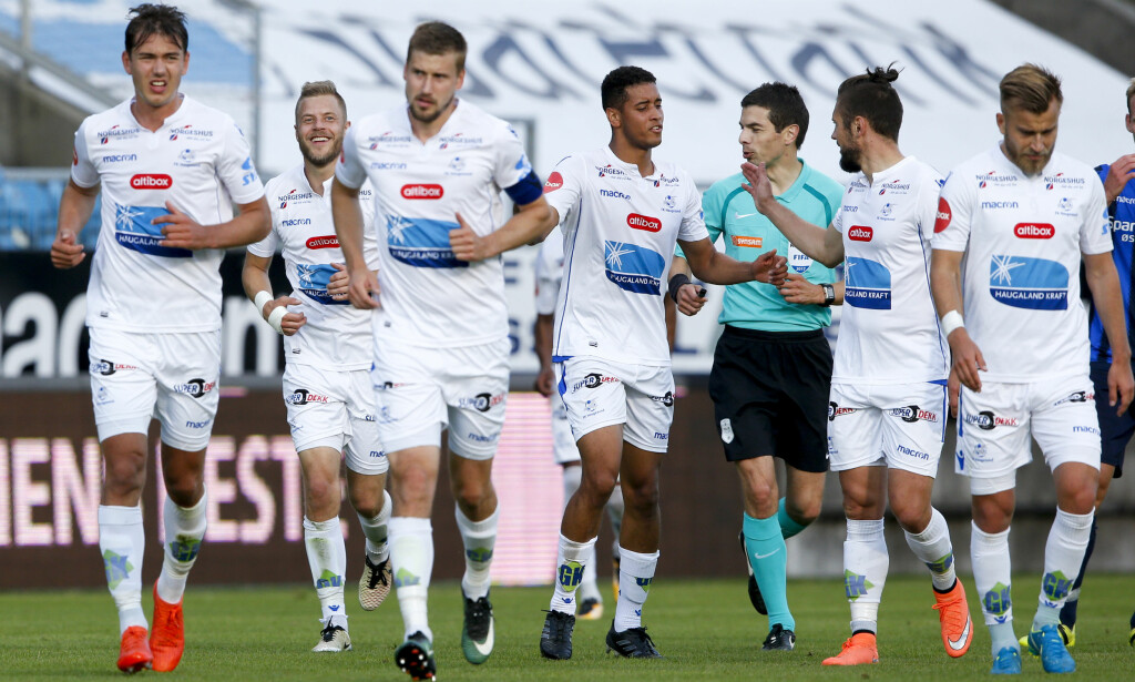 UAVGJORT: Haugesunds 2-0-ledelse mot Stabæk ble borte på tre minutter i annen omgang. Lagene delte poengene på Haugesund stadion.  Foto: Jan Kåre Ness / NTB scanpix