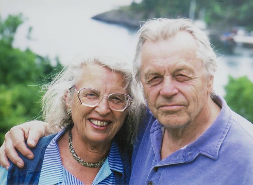 LIVSSTØTTE: Jo Ørjasæter var Tordis' livsstøtte når hun engstet seg for fremtiden. Han døde i 2006.  Foto: Privat