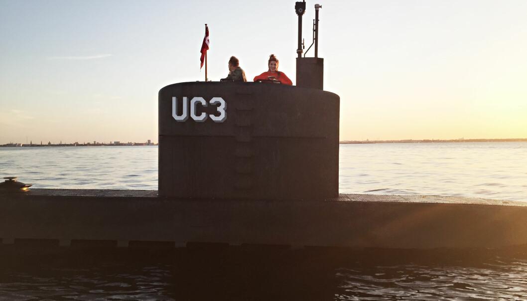 <strong>VITNER:</strong> Flere personer observerte oppfinner Peter Madsen og journalist Kim Wall da de dro ut i Øresund med ubåten hans. En vennegjeng reddet Madsen dagen etterpå, da ubåten sank på få sekunder. Foto: Ritzau/NTB Scanpix