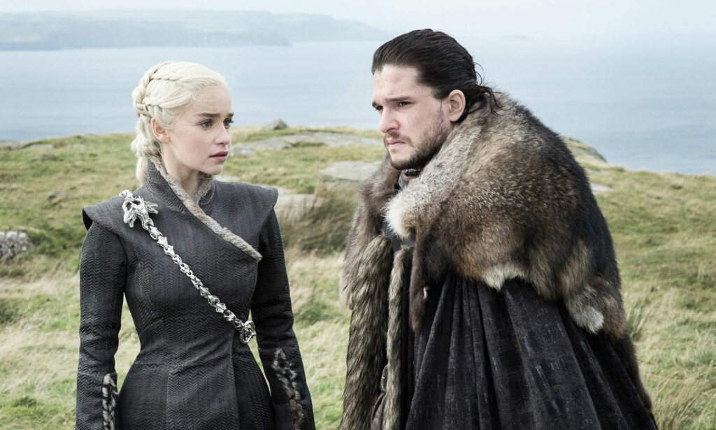 IS OG ILD: Jon og Daenerys i ukas Game of Thrones-episode. Foto: HBO NORDIC