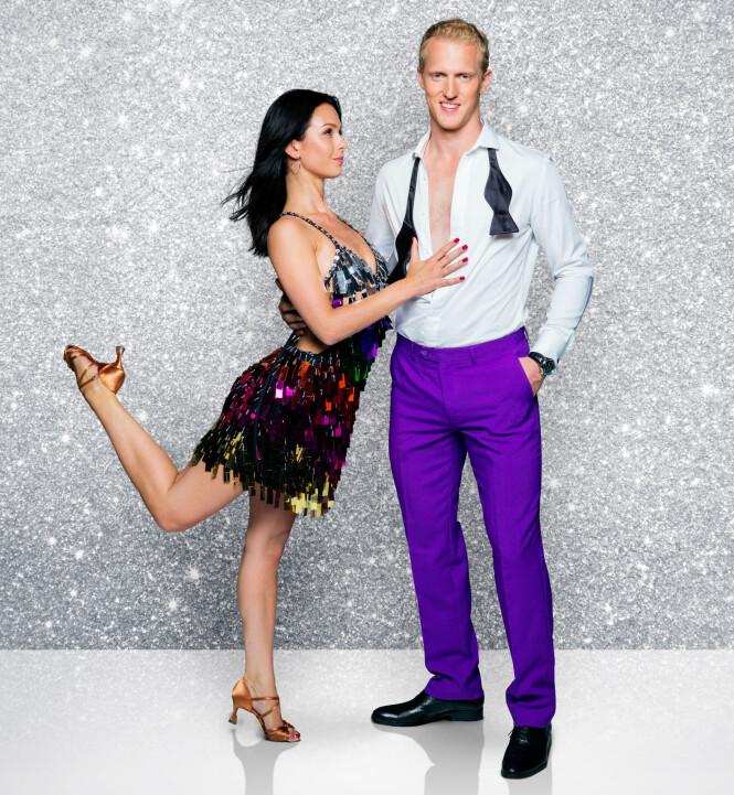 <strong>ERIK FOLLESTAD:</strong> I år skal proffdanser Lillian Aasebø danse sammen med Erik Follestad. Foto: TV 2