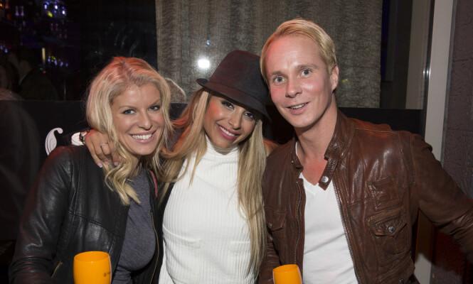 <strong>EKS-PAR:</strong> Mari med eks-kjæresten Petter Pilgaard og Linni Meister i 2013. Foto: Espen Solli, Se og Hør.