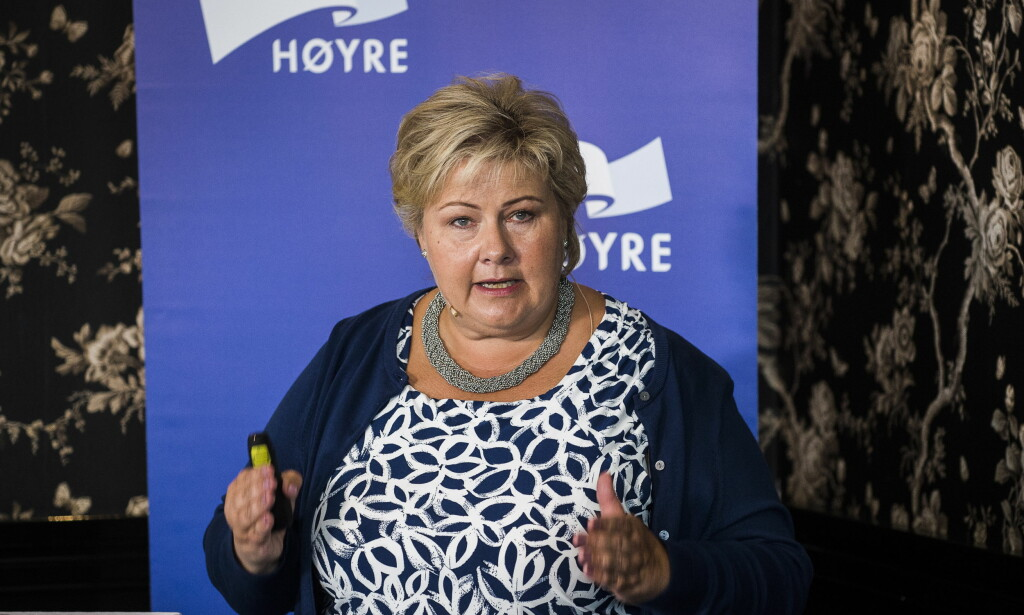 BRYTER NED NORSKE VERDIER: Regjeringen, her ved statsminister Erna Solberg. Foto: Lars Eivind Bones / Dagbladet