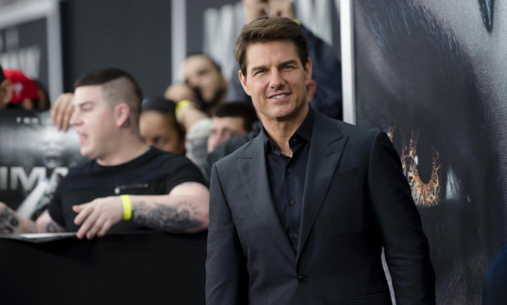 SKADET ANKELEN: Tom Cruise skulle etter planen filme «Mission Impossible»-scener i Norge, men må nå utsette innspillingen etter at et stunt gikk galt. Foto: NTB Scanpix